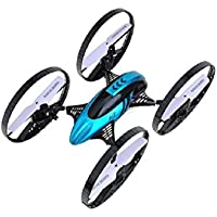 Squadron Products H3 Air-Ground 6-Axis Gyro RC Quadcopter, Blue