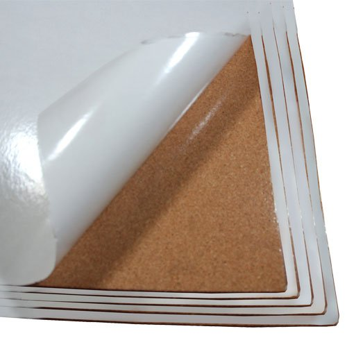 Cork Sheet with Adhesive 24In X 36In X 1/8In Thick- 5Pcs Set by The Felt Store