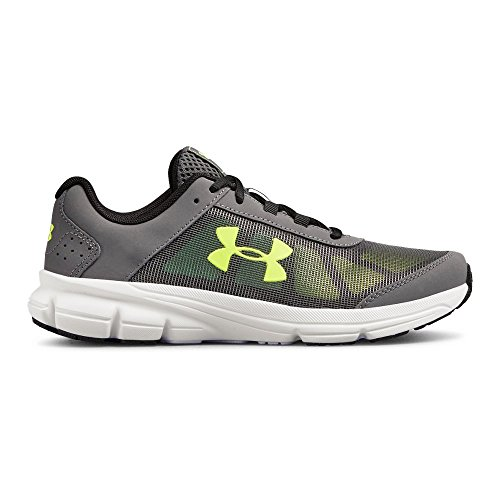 Under Armour Kids' Grade School Rave 2 Sneaker,Graphite (102)/White,3.5 M US by Under Armour (Image #1)