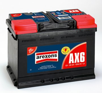 meilleur service mieux aimé taille 7 BATTERIA 80Ah AREXONS 720A SPUNTO: Amazon.it: Auto e Moto