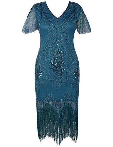 PrettyGuide Women's 1920s Flapper Dress Fringed Great Gatsby
