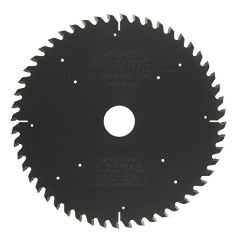 Tenryu PSL-21052D3 210mm Plunge-Cut Saw Blade 52T for FESTOOL TS75 (Tenryu Saw Blade For Festool)