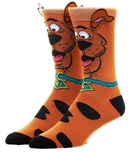 Scooby Doo W/Ears Character Adult Size Crew Socks -