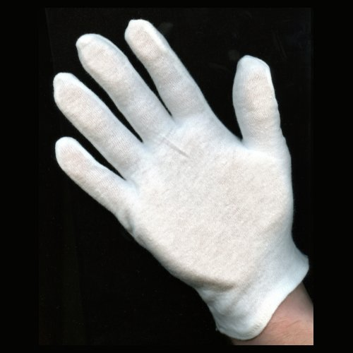 100% White Cotton Gloves - Woman's Heavy Weight - 12 Pairs - The Glove with a Thousand Uses! (Blacklight Gloves)