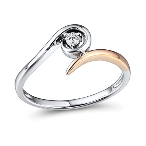 Two Tone Diamond Promise Ring - 3