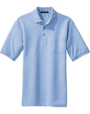 Pique Knit Polo with Pocket