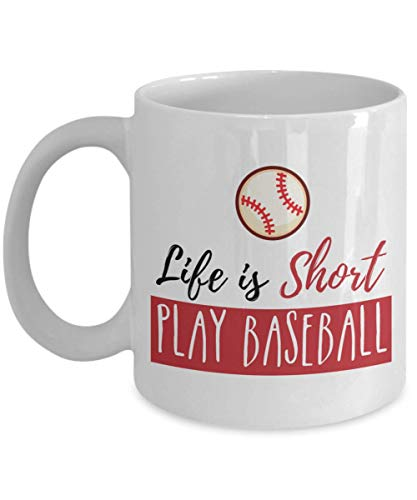 aseball Cup, Birthday Gifts for Baseball Players Him Her, Coffee Mugs for Baseball Lover Men Women ()