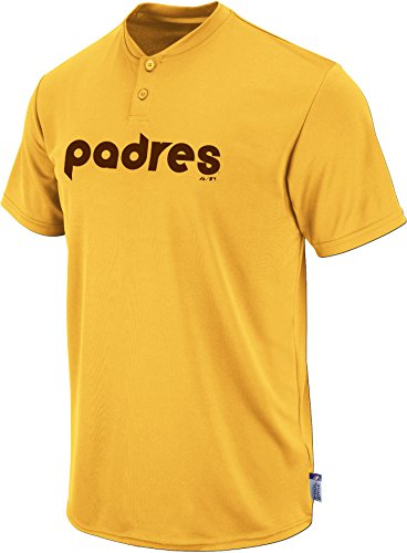 Majestic Two Button San Diego Padres Cool Base Throwback Large Youth Jersey - San Diego Padres Cool