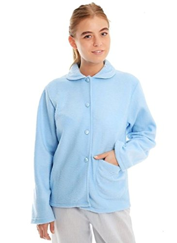 Aqua Fleece single 24 pocket 14 and Collar on sizes Blue Floral front 16 Bed 10 Ladies 22 Blue Pattern with 18 Pink 12 jacket 20 6zdUgP