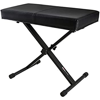 Amazon Com Stagg Keb A20 Adjustable Keyboard Bench With X