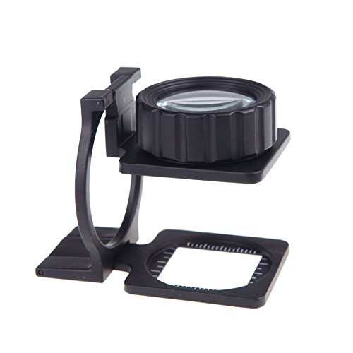 20X Foldable eye Magnifier Stand Measure Scale mini Loupe Magnifying Glass Portable lente de aumento gafas lupa mikroskop lupa (Coin Set Woven)