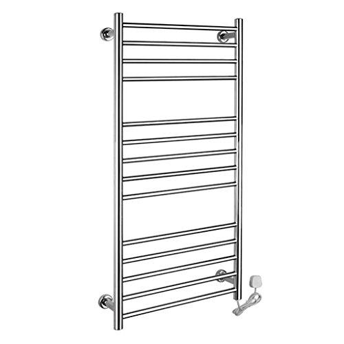 TuTu Round Pipe Wall Mounted Stainless Steel Electric Heated Towel Rail / Bathroom Radiator / Towel Warmer 9006 , ()