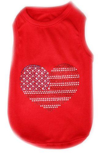 Pet ClothesUSA FLAGDog T-Shirt-Large, My Pet Supplies