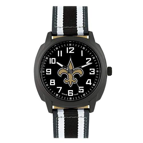 (NFL New Orleans Saints Mens Ice Series Wrist Watch, Black, One Size)