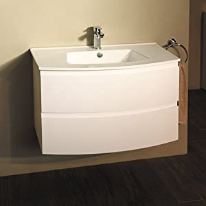 800 Vanity Unit With Basin For Bathroom Ensuite Cloakroom Luxury Wall Mounted Soft Closing