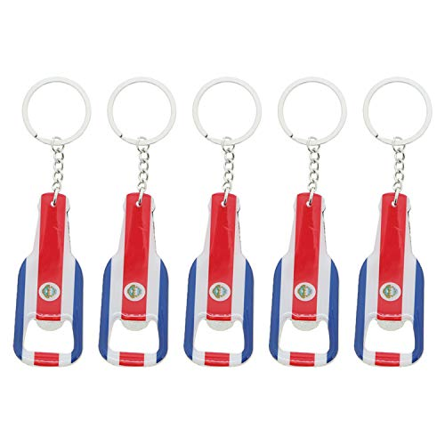 Costa Rica Beer Bottle Opener Keychain - Set of 5