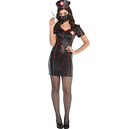 amscan Twisted Nurse Halloween Costume Accessory Kit for Women, 3 Pieces -