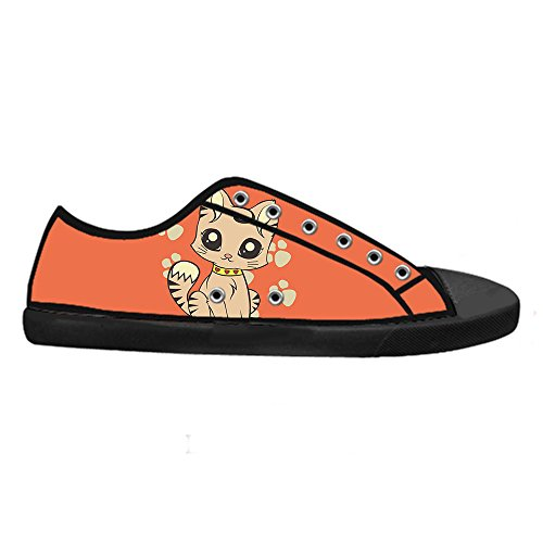 Custom Cartoon Katze Mens Canvas shoes Schuhe Lace-up High-top Sneakers Segeltuchschuhe Leinwand-Schuh-Turnschuhe E