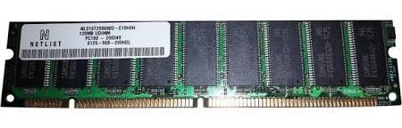 (NL31672S08083-C10HSH NetList 128MB SDRAM ECC PC 100 168 Pin Memory )