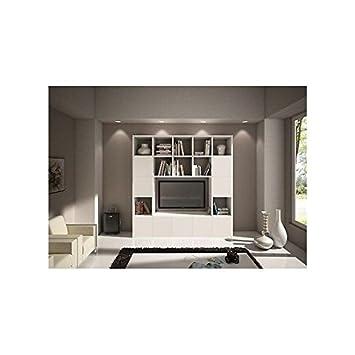 EsteaMobili Bücherregal Wand modern Wohnzimmer-TV Holz Esche ...