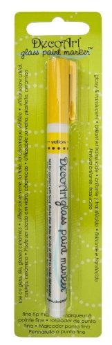 DecoArt Glass Paint Marker Yellow