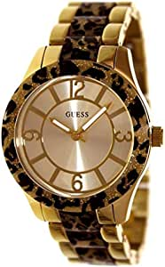Guess Animal Print for Women - Casual Stainless Steel Band Watch - U0014L2