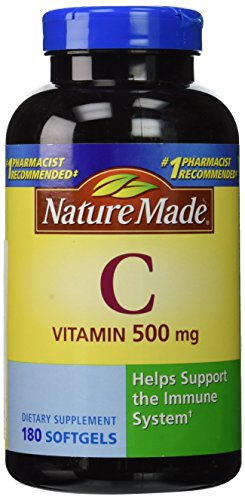 Nature Made Vitamin C Liquid Softgel, 500mg 180 Count