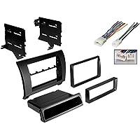Car Radio Black Dash Kit Harness for 2007-2013 Toyota Tundra Sequoia W/ Wiring Harness
