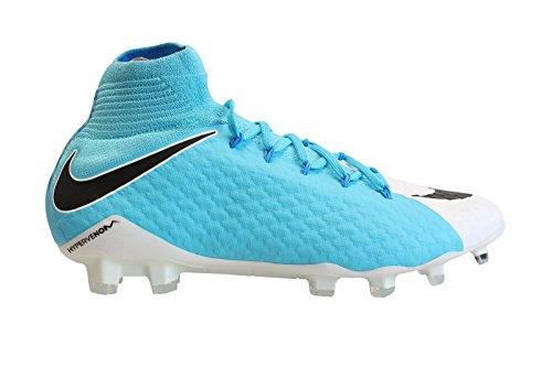 3 Fg Football Boots (Nike Hypervenom Phatal III FG Mens Football Boots 878640 Soccer Cleats (uk 9 us 10 eu 44, white black photo blue 104))