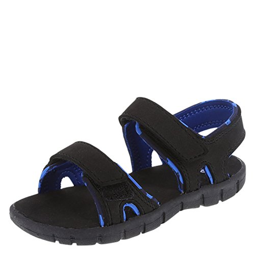 Black Boys Sandals - Zoe and Zac Boy's Black Blue Boys' Toddler Sport Sandal Toddler Size 5 Regular