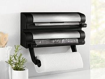 Kitchen Roll Foil And Cling Film Dispenser Holder