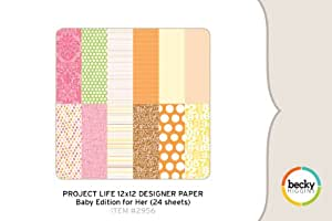 Project Life Designer Paper - Baby Edition for Her