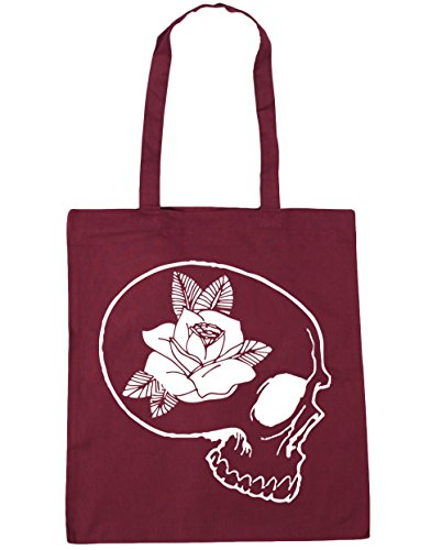 skull HippoWarehouse 10 Shopping x38cm litres rose Beach 42cm Gym and Tote Burgundy Bag rrxSwq4Rd