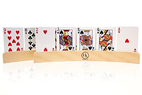 Playing Cards Holder for Card Games, Canasta, Kids, Adults, and Seniors Set of 4 - Game Card Holder