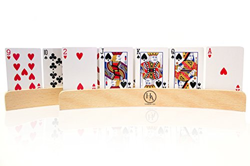 Playing Cards Holder for Card Games, Canasta, Kids, Adults, and Seniors Set of 4