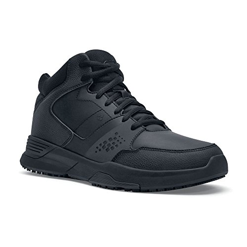 High Top Slip - Shoes For Crews Mens Hart Athletic-Sneaker High Slip Resistant Work Shoe Black