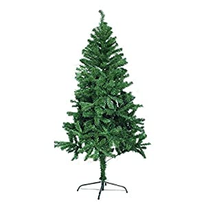 Herron Christmas Tree Artificial Premium Spruce Hinged Xmas Tree with Metal Stand for Indoors&Outdoors … (6ft) 2