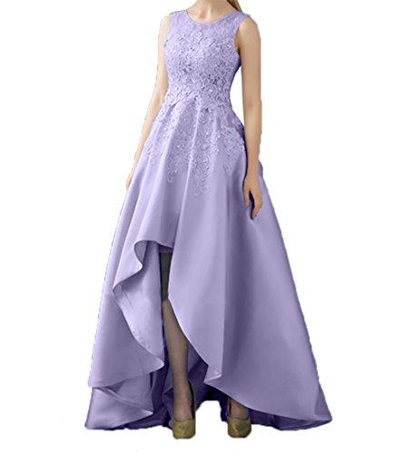 Promkleider Abschlussballkleider Kleider A Rock Standsamt Braut Asymettrisch lo Linie Lilac La Partykleider mia Hi Spitze Abendkleider Hq6v8z