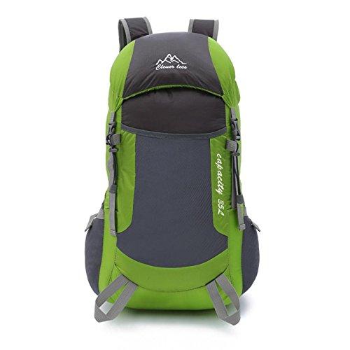 Owill Boys Girls Men Women Nylon Climb Backpack Soft Shoulder Strap Large Capacity Travel Backpack (Green) Mountain Nylon Backpack