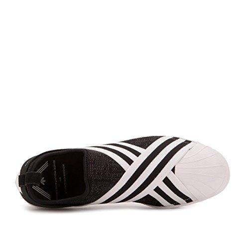 Adidas Uomo Bianco Alpinismo Superstar Slip-on Primeknit Nero Core Nero Calzature Bianco Taglia 6.0 Us