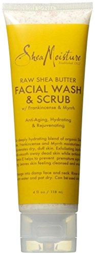 Shea Moisture Raw Shea Butter Facial Wash & Scrub, 4 Ounce