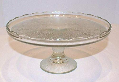 Vintage Jeannette Clear Pressed Glass 10