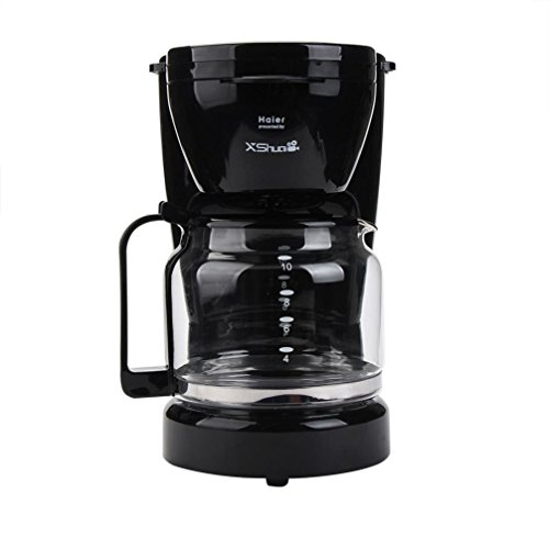 Transer Coffee Maker with Glass Pot Presented By Haier, 10-cup, Black (Black)
