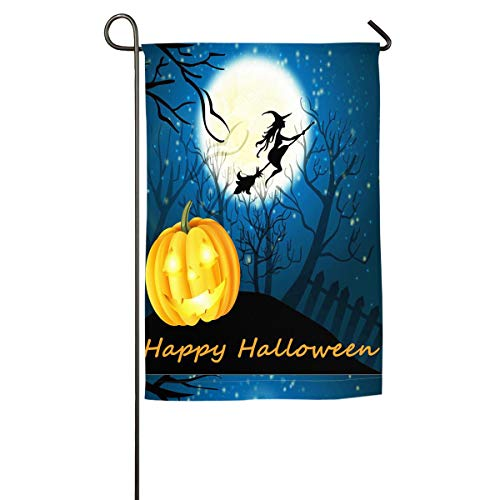 Xugui Appy Halloween Witch Pumpkin Garden Flag Seasonal Spring Summer Outdoor Flag Competition Flag for Home Decorative