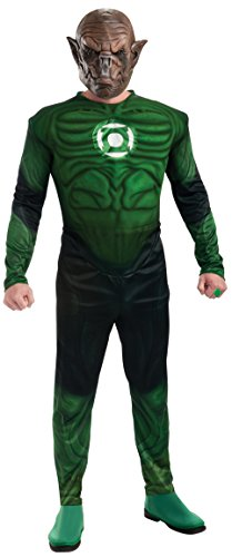 Green Lantern Deluxe Kilowog Costume With Muscle Chest, Green, X-Large