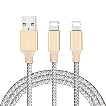 Cable para Phone GlobaLink® - Juego de 2 Pack 2 Metros Cargador Reforzado Recarga Data Sincronización para Phone 7 7 Plus 6 5