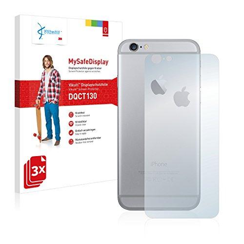 3x Vikuiti MySafeDisplay Pellicola Protettiva DQCT130 da 3M per Apple iPhone 6 Posteriore (totale + LogoCut)