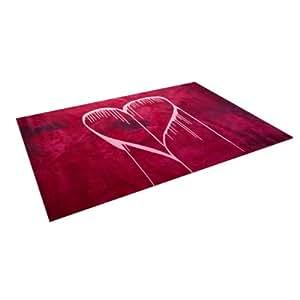 "Kess InHouse Steve Dix ""Miss You"" Indoor/Outdoor Floor Mat, 4 by 5-Feet"