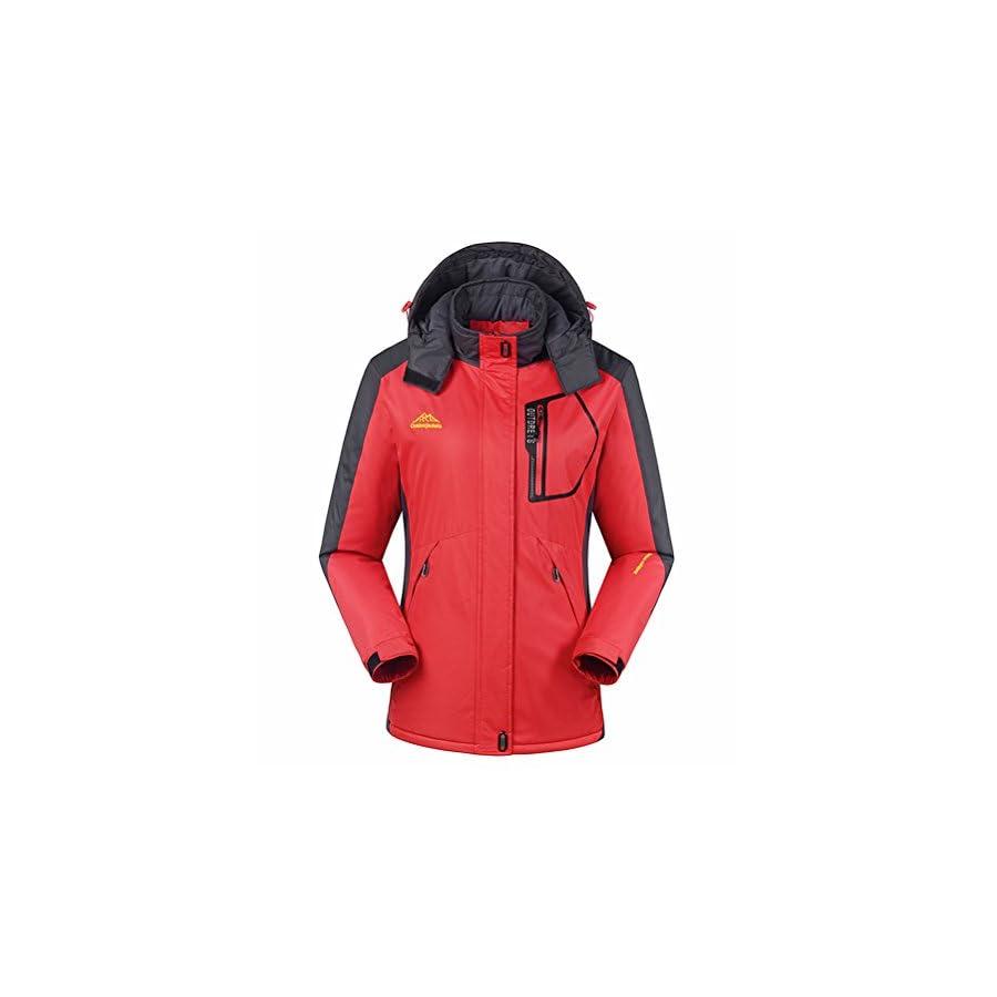 MAGCOMSEN Womens Waterproof Snowboarding Warm Fleece Ski Jackets Outdoorwear