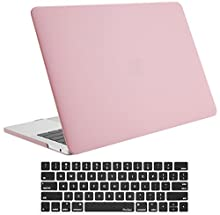 """ProCase MacBook Pro 15 Case 2018 2017 2016 Release A1990/A1707, Hard Case Shell Cover and Keyboard Cover for Apple MacBook Pro 15"""" (2018/2017/2016) with Touch Bar and Touch ID -Pink"""